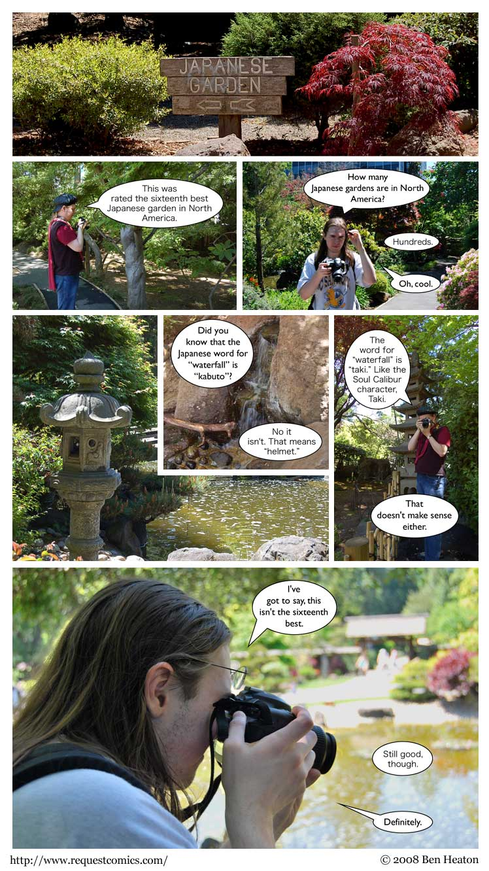 Japanese Garden comic