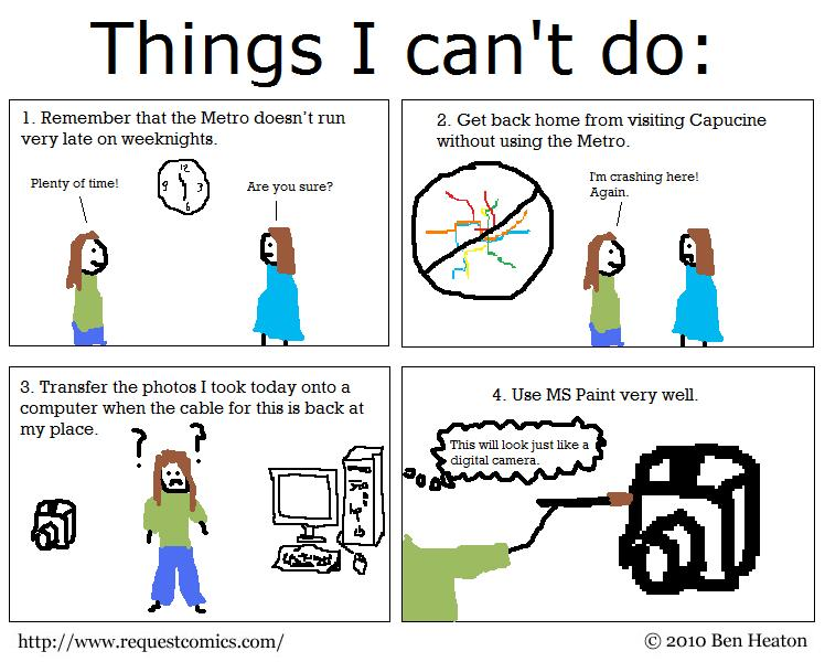 Things I Can't Do comic
