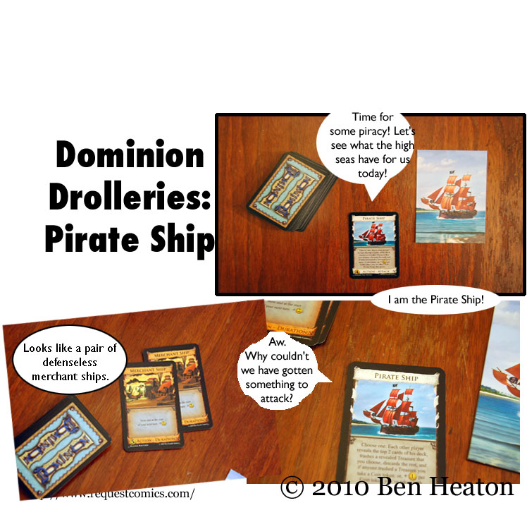 Dominion Drolleries: Pirate Ship comic