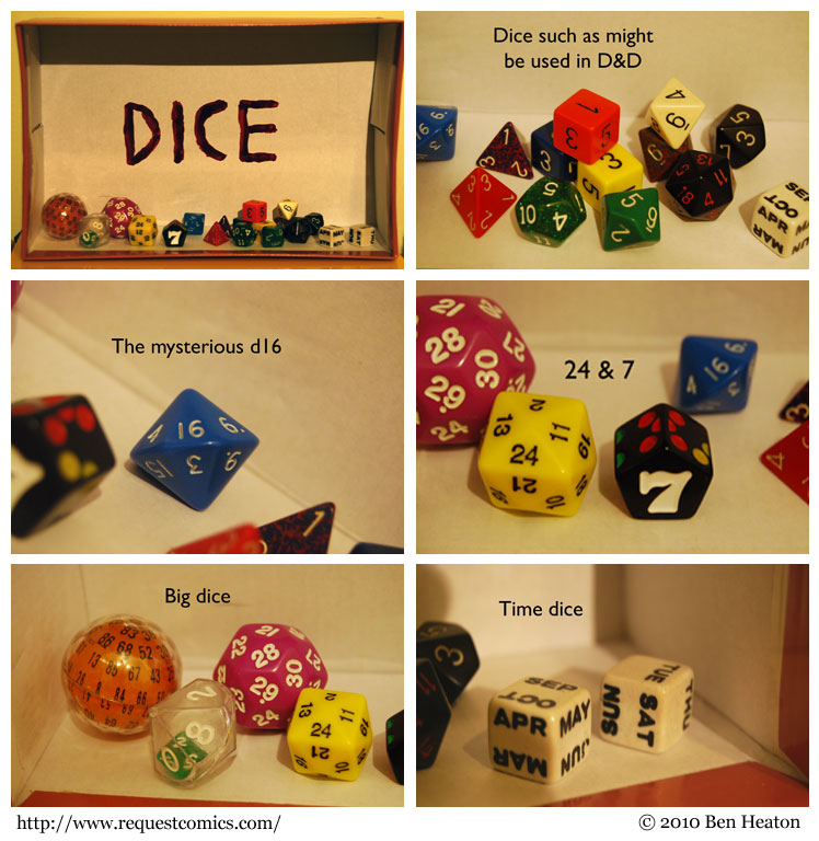 Dice Diorama comic