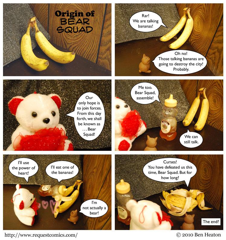 Origin of Bear Squad comic