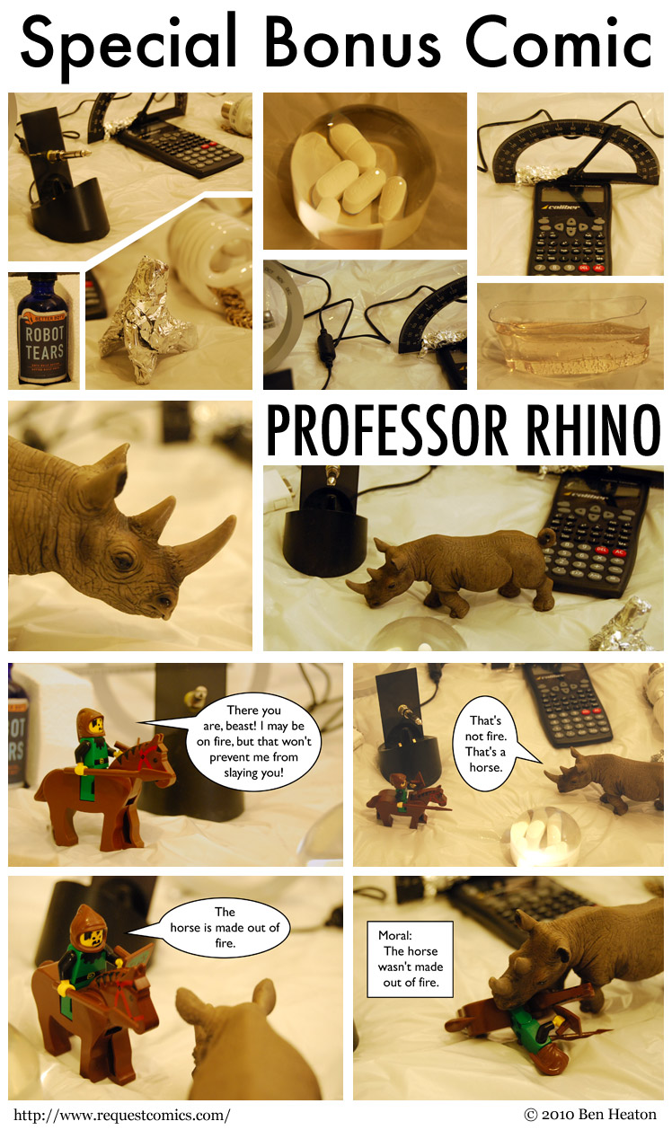 Professor Rhino comic