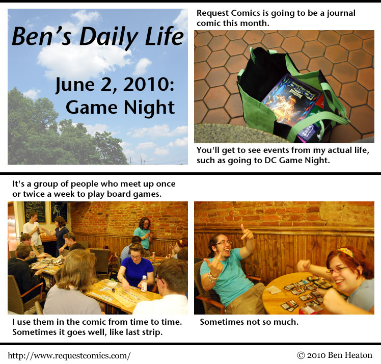 Ben's Daily Life: Game Night comic