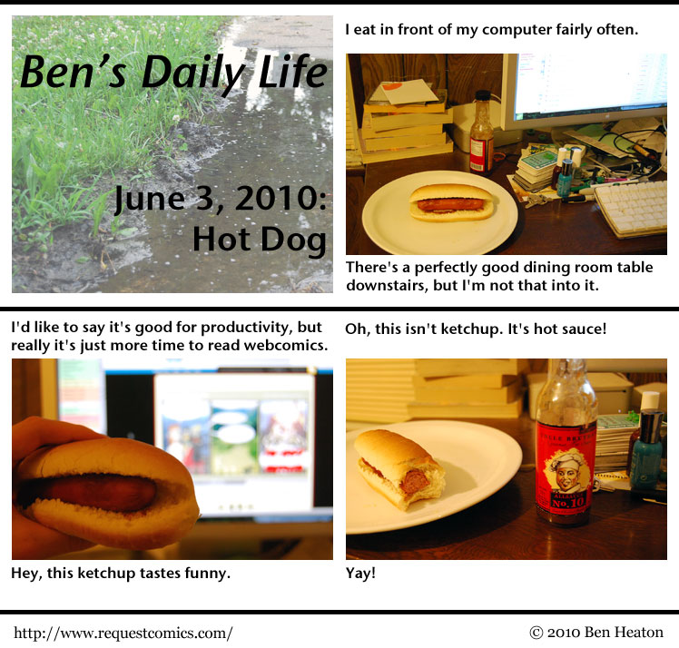 Ben's Daily Life: Hot Dog comic