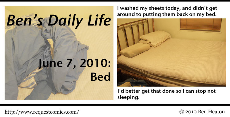 Ben's Daily Life: Bed comic