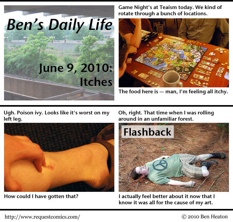Ben's Daily Life: Itches comic