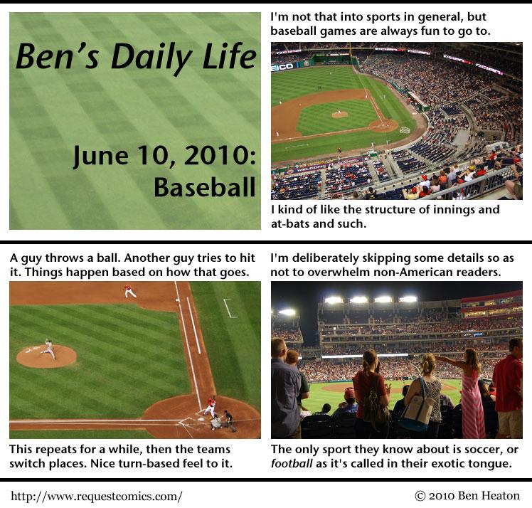 Ben's Daily Life: Baseball comic