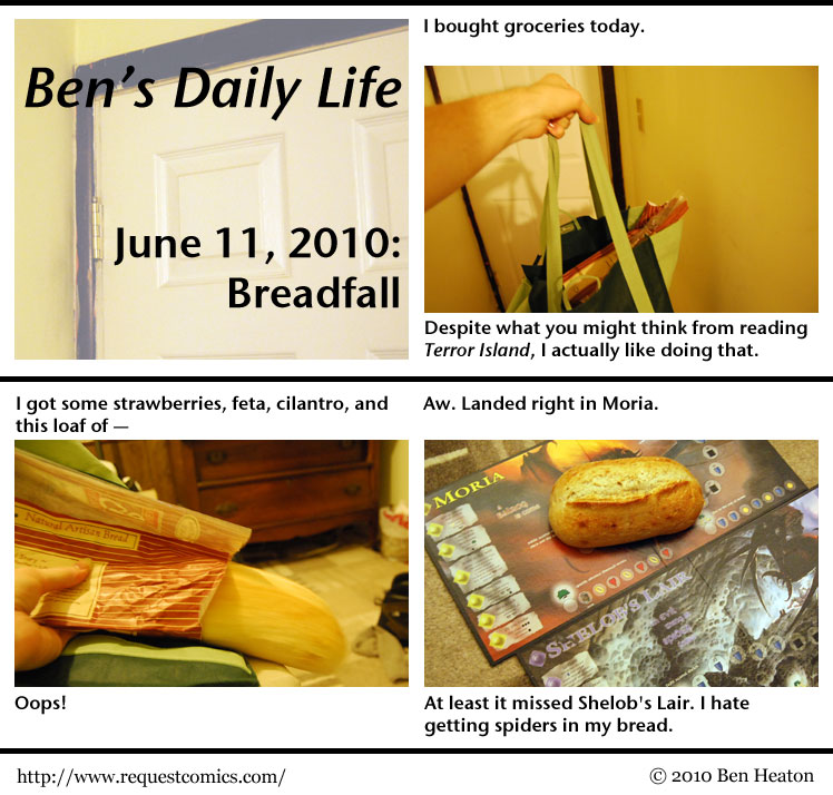 Ben's Daily Life: Breadfall comic