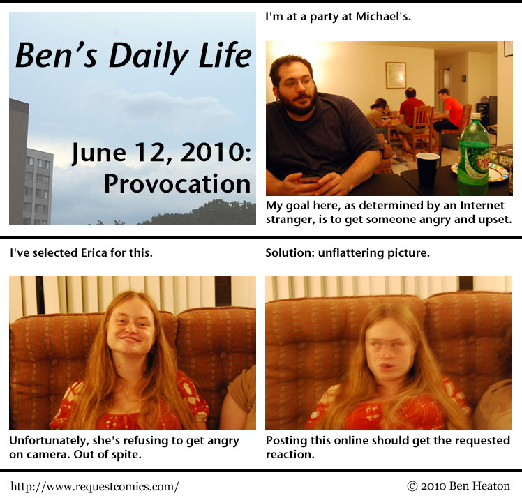 Ben's Daily Life: Provocation comic