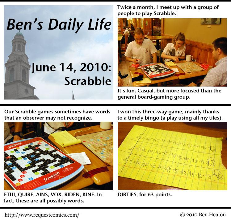 Ben's Daily Life: Scrabble comic
