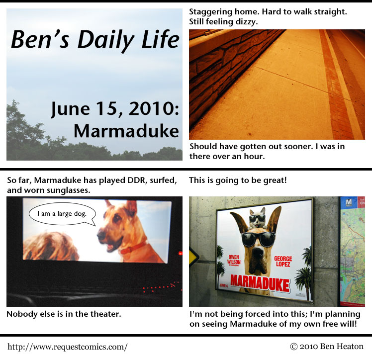 Ben's Daily Life: Marmaduke comic
