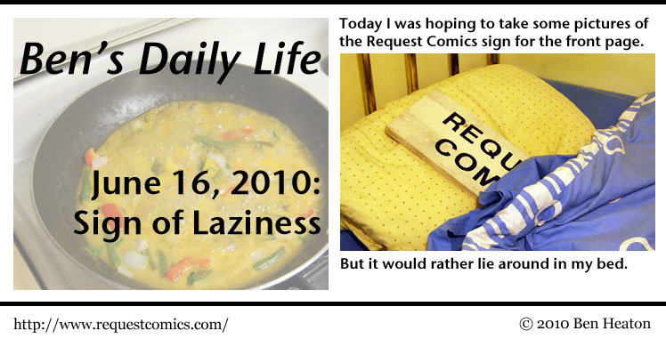 Ben's Daily Life: Sign of Laziness comic