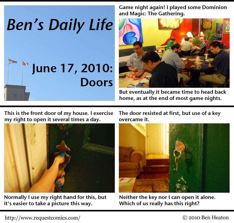 Ben's Daily Life: Doors comic