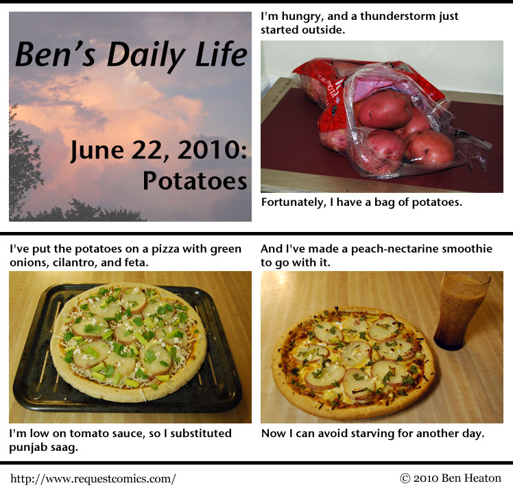 Ben's Daily Life: Potatoes comic