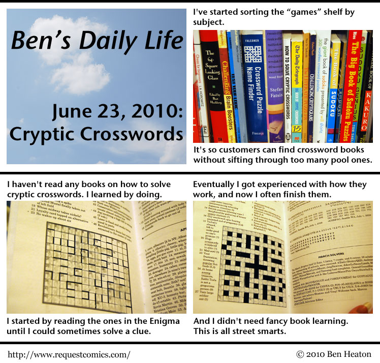 Ben's Daily Life: Cryptic Crosswords comic