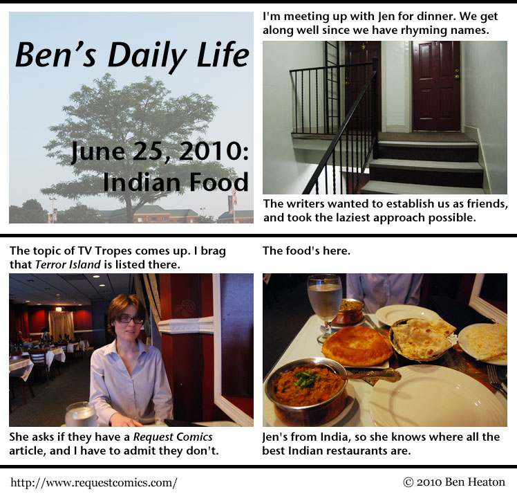 Ben's Daily Life: Indian Food comic