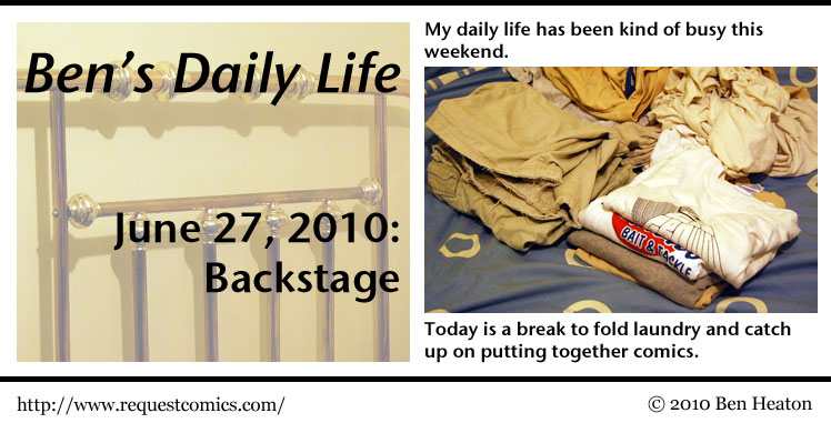 Ben's Daily Life: Backstage comic