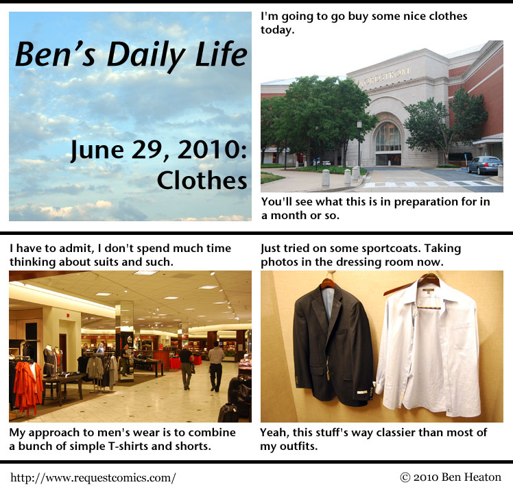 Ben's Daily Life: Clothes comic