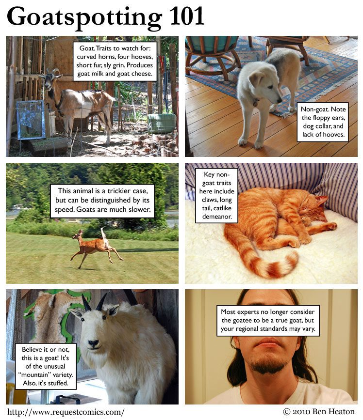Goatspotting 101 comic