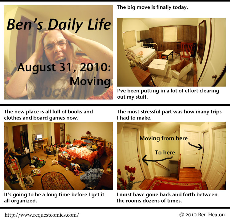 Ben's Daily Life: Moving comic