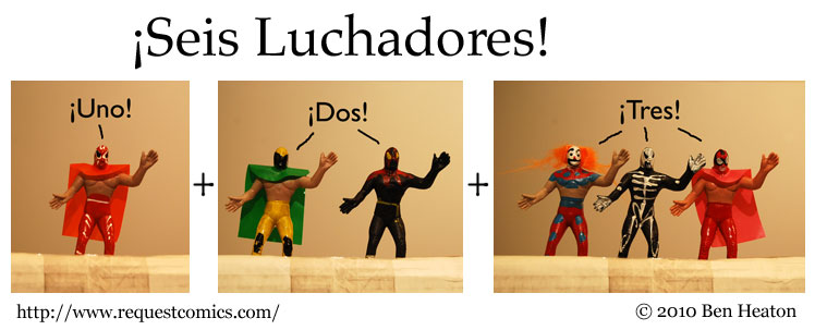 ¡Seis Luchadores! comic