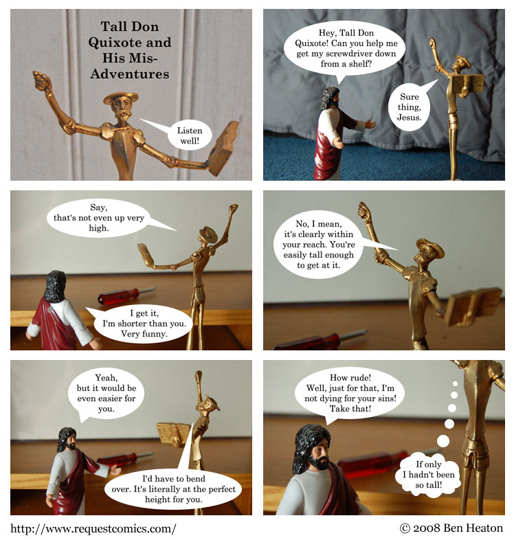 Tall Don Quixote and His Mis-Adventures comic