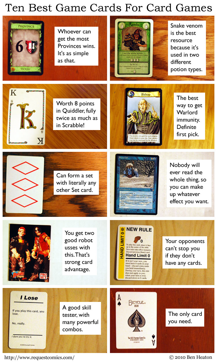 Ten Best Game Cards For Card Games comic