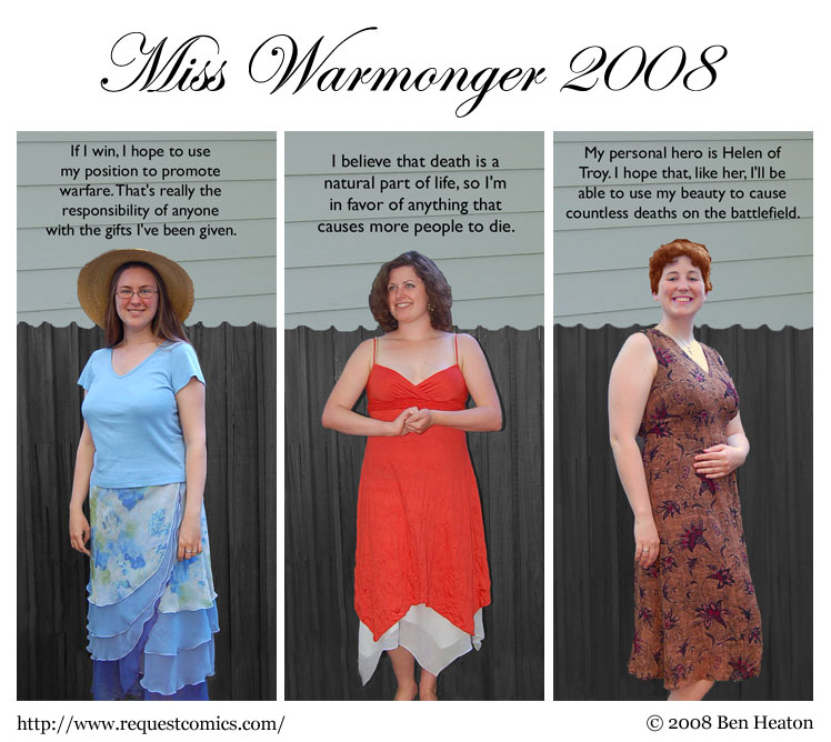 Miss Warmonger 2008 comic
