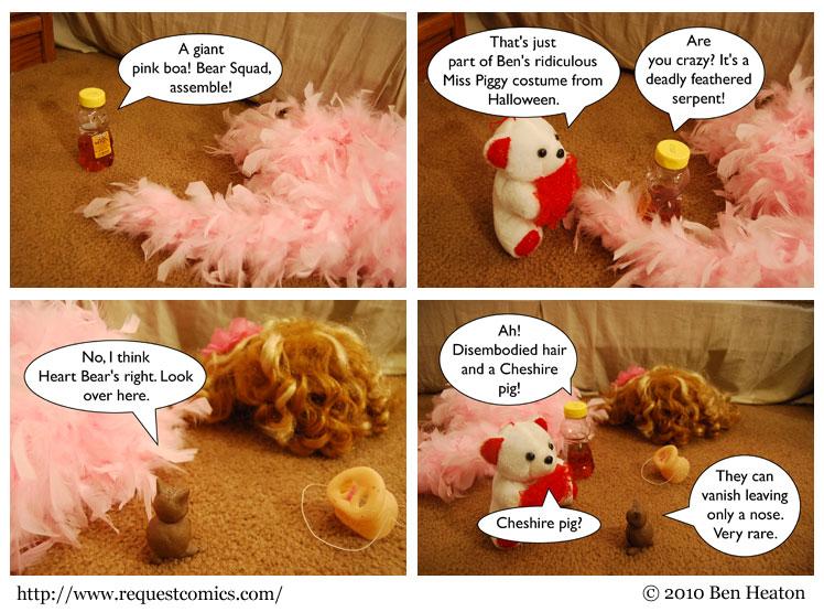 Bear Squad vs. Feather Boa comic
