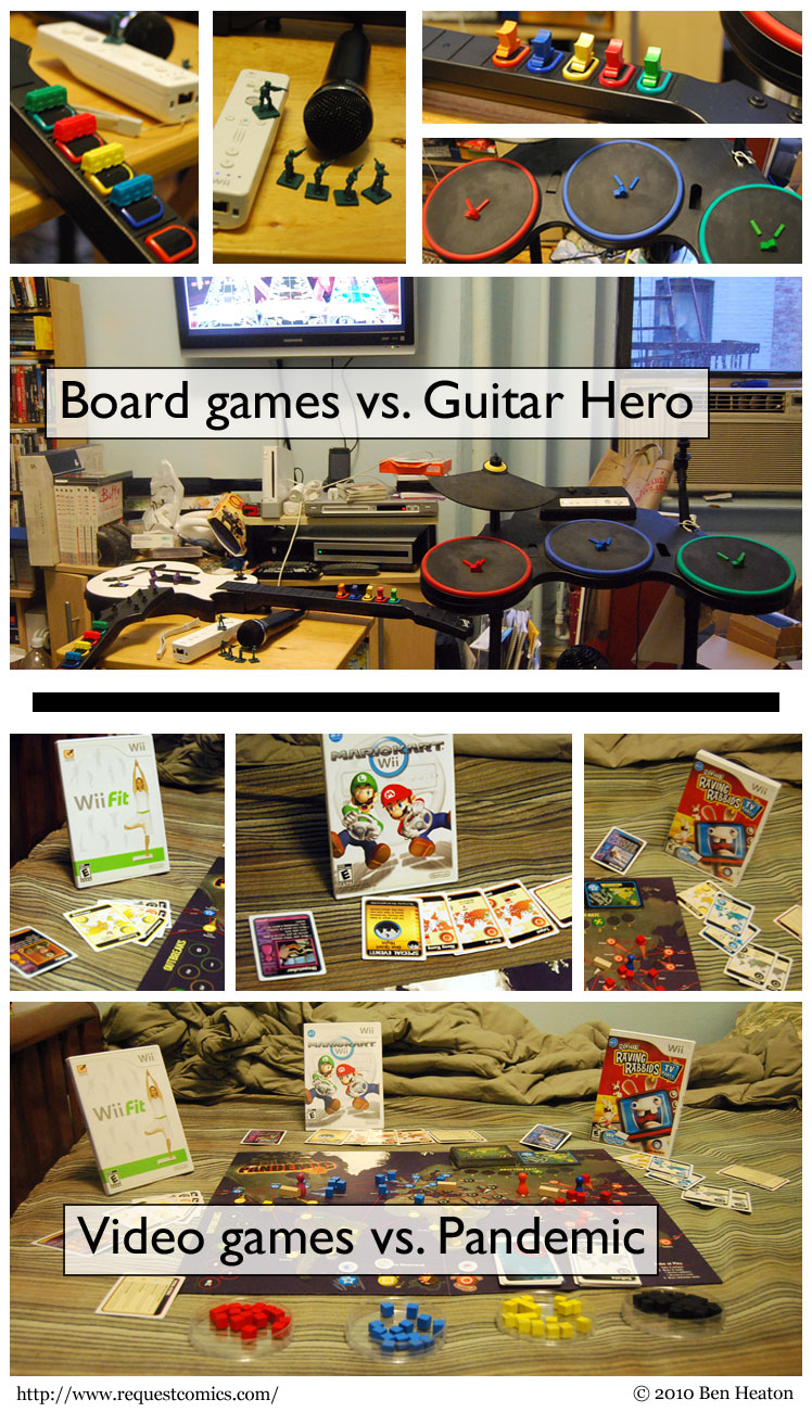 Video Games vs. Board Games comic
