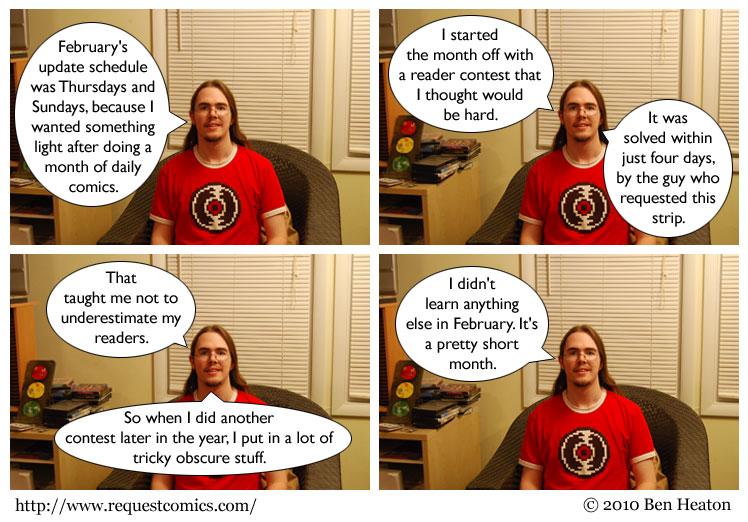 February Lessons comic