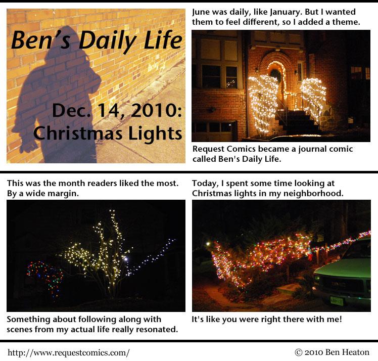 Ben's Daily Life: Christmas Lights comic