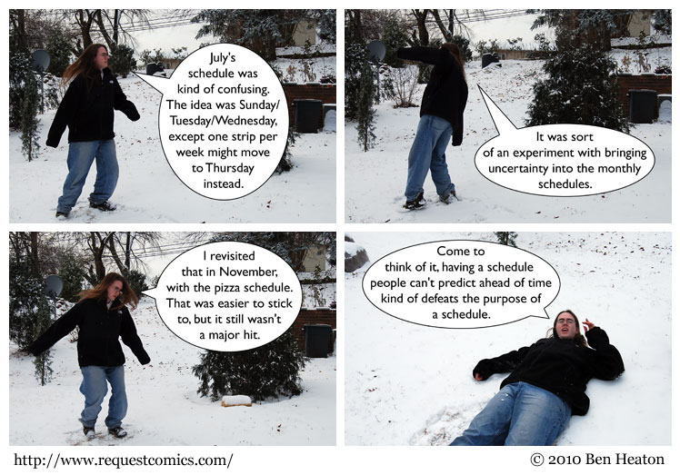 Snow Spinning comic