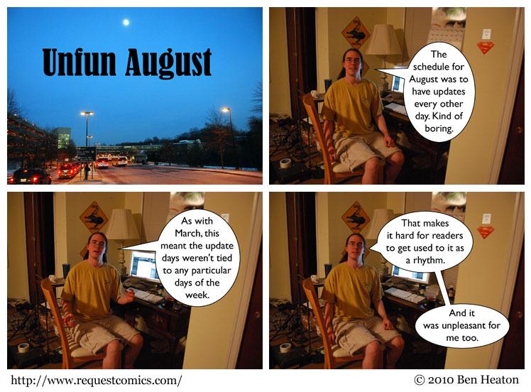 Unfun August comic