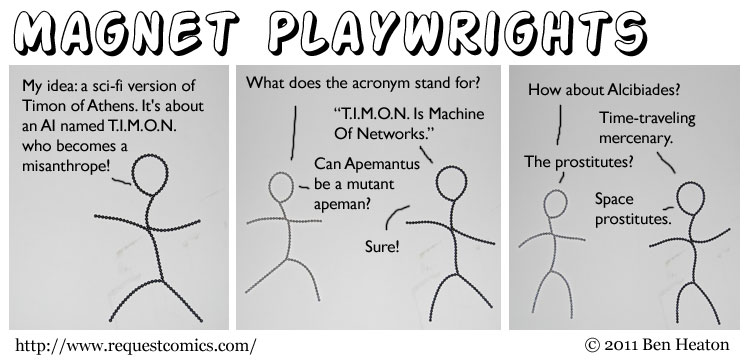 Magnet Playwrights comic