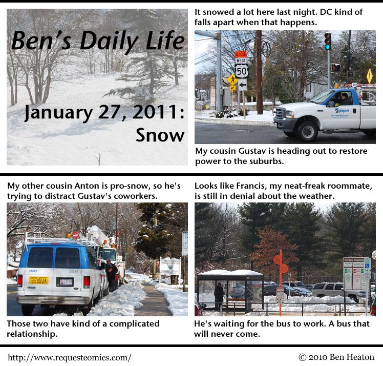 Ben's Daily Life: Snow comic