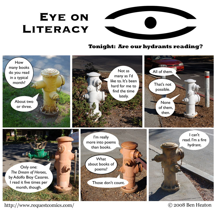 Eye on Literacy comic