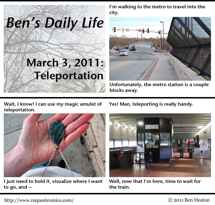 Ben's Daily Life: Teleportation comic