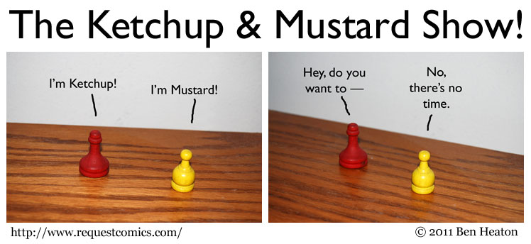 The Ketchup &amp; Mustard Show! comic