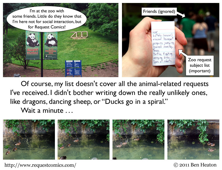 Spiral Ducks comic