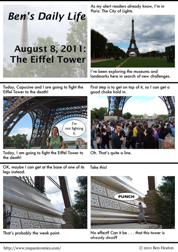 Ben's Daily Life: The Eiffel Tower comic