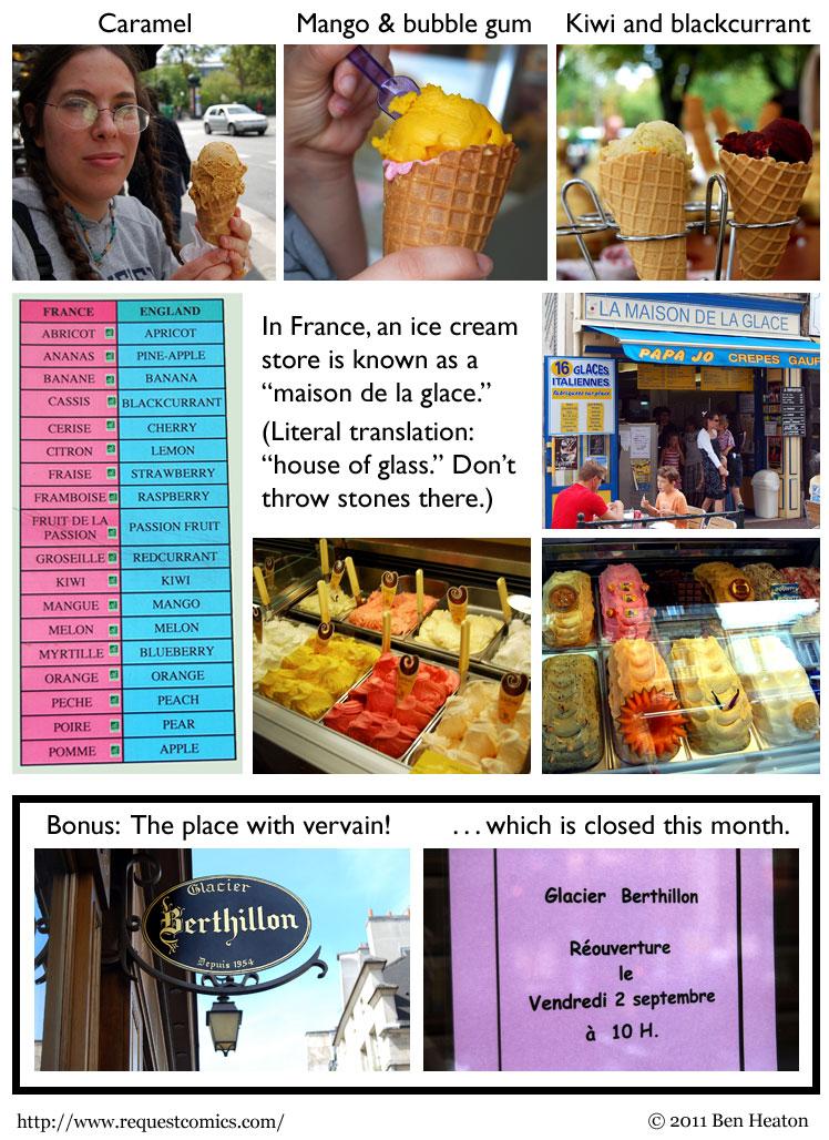 Paris Ice Cream comic