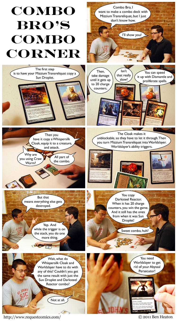 Combo Bro's Combo Corner comic