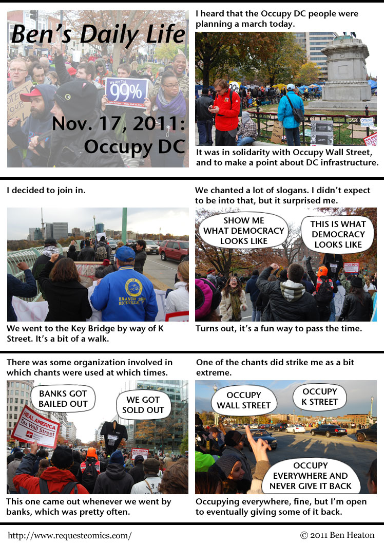 Ben's Daily Life: Occupy DC comic