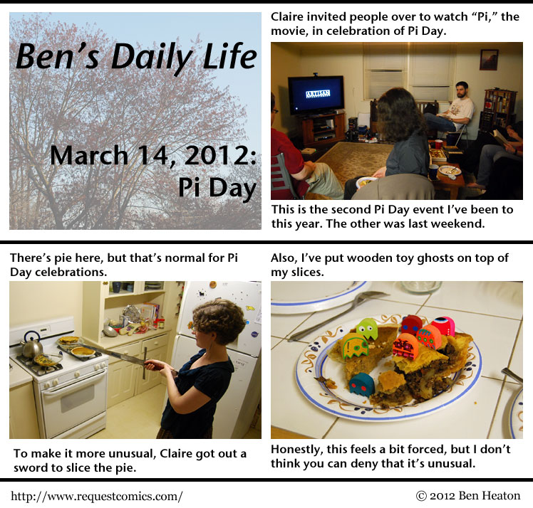 Ben's Daily Life: Pi Day comic