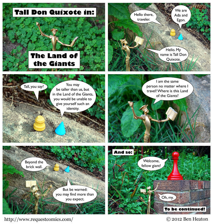 Tall Don Quixote in the Land of the Giants comic