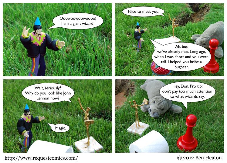 Giant Wizard comic