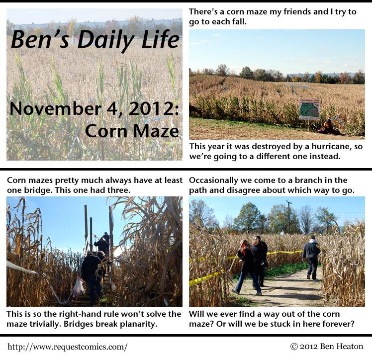 Ben's Daily Life: Corn Maze comic