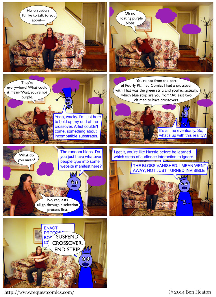 Floating Purple Blobs comic
