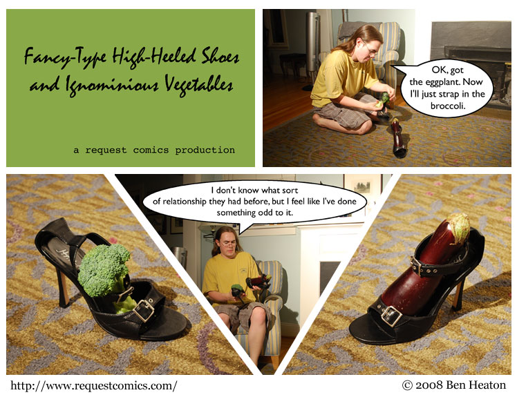 Fancy-Type High-Heeled Shoes and Ignominious Vegetables comic